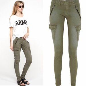 Rag+Bone Bowery Zip Olive Cargo Jeans
